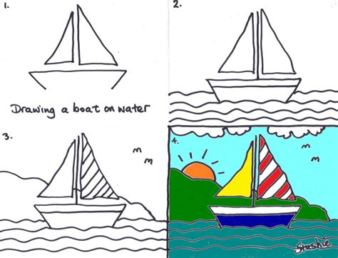 how to draw a jon boat 02 boat on water kids art club lesson john flickr