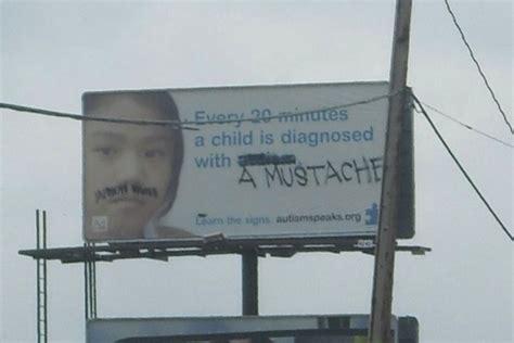 funny billboard graffiti  defacing property  kids