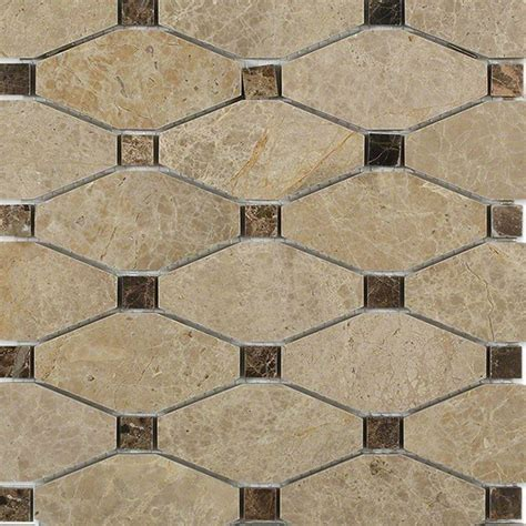 marble mosaic tile splashback tile diapson light emperador with dark