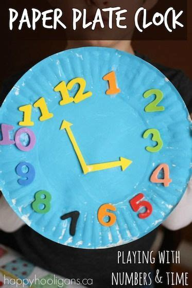 Craft Work With Paper Plate - 25 best ideas about clock craft on family