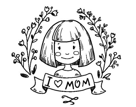 imagenes de i love you mom dibujo de i love mom para colorear dibujos net