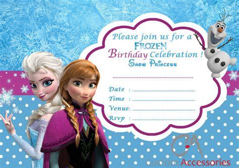 20x FROZEN ELSA PARTY INVITATIONS KIDS CHILDREN'S INVITES