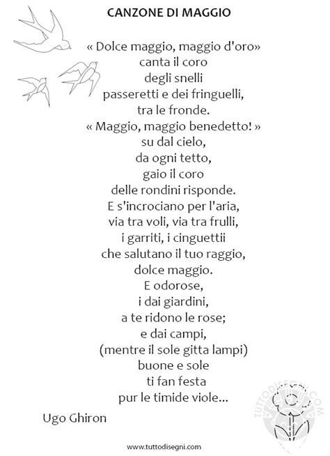 fiori di maggio testo poesia di maggio con disegni tuttodisegni