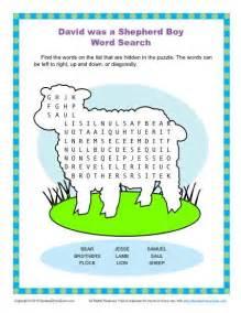 david was a shepherd boy word search children s bible