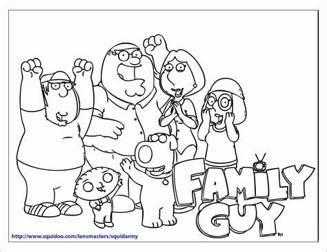 coloring pages for family guy free printable family guy coloring pages squid army