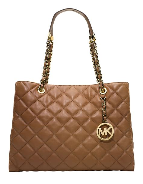Michael Kors Quilted Handbags by Michael By Michael Kors Susannah Quilted Leather Tote Bag