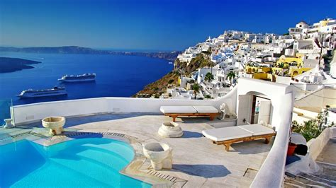 desktop themes greece santorini greece wallpaper gzsihai com