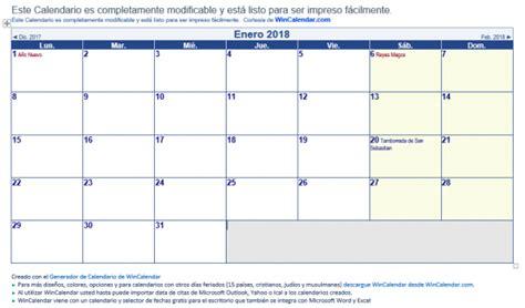 Calendario Word 2018 7 Plantillas De Calendario Laboral 2018