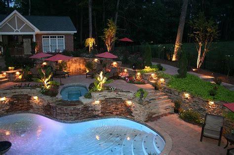 outdoor lighting ideas  pool  mini lake