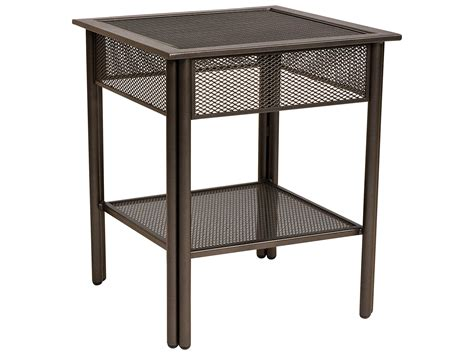 Wrought Iron End Tables by Woodard Jax Wrought Iron 20 8 Square Micro Mesh Top End