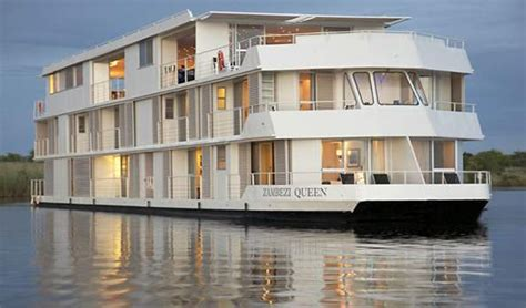 houseboat zambezi queen zambezi queen houseboat quot game drive quot along the chobe