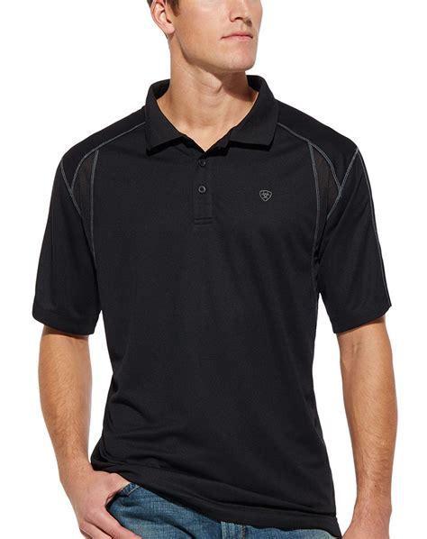 Osella Polo Shirt Solid Black ariat s ac tek sleeve solid polo shirt black