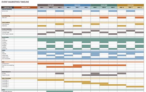 21 Free Event Planning Templates Smartsheet Free Event Timeline Template