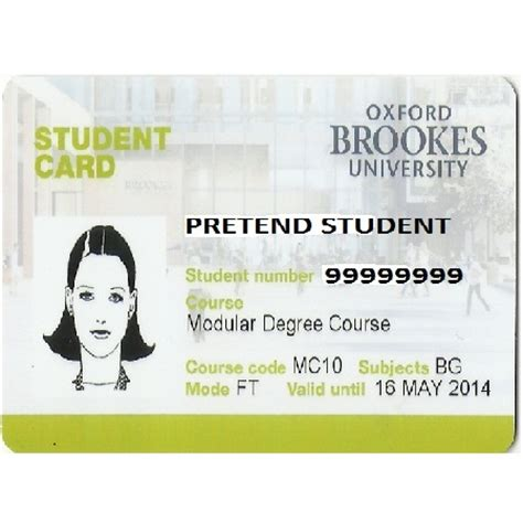 Oxford Brookes Mba Fees by Id Card Replacement Students Only Oxford Brookes