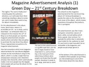 Analysis Of An Advertisement Essay by Magazine Advertisement Analysis