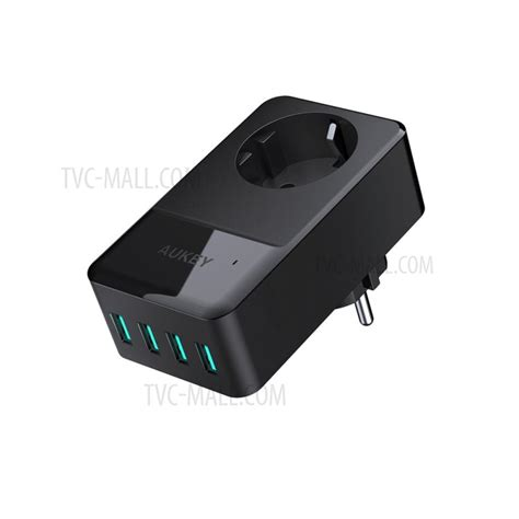Aukey Universal Travel Charger Dengan 4 Usb Ports Eu Pa S12 Aukey 4 Port Usb Charger With Built In Eu Socket Universal Travel Wall Charger Charger Pa S12