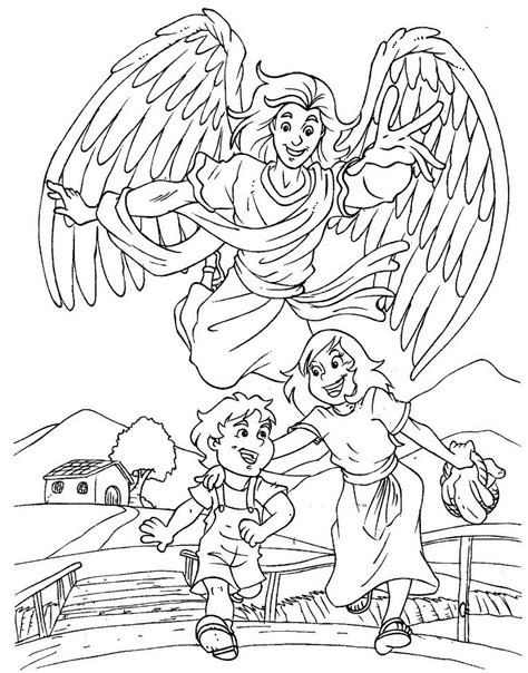 coloring page guardian angel prayer god s protection coloring pages google search children