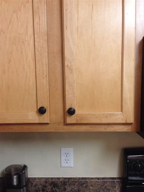 Gray Walls Maple Cabinets