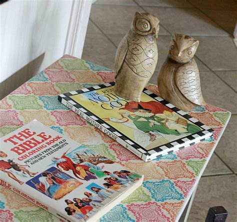 Modge Podge Decoupage - how to decoupage furniture with modge podge tutorial
