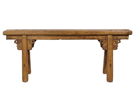 country benches indoor consigned chinese antique country bench asian indoor