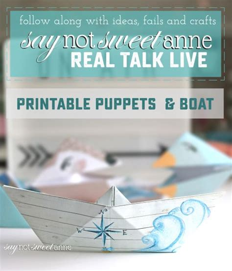 origami boat real real talk live printable origami boat and puppet sweet