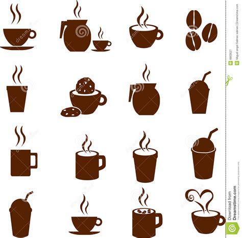 hot beverages 3 letters vector coffee chocolate and hot beverages drinks royalty