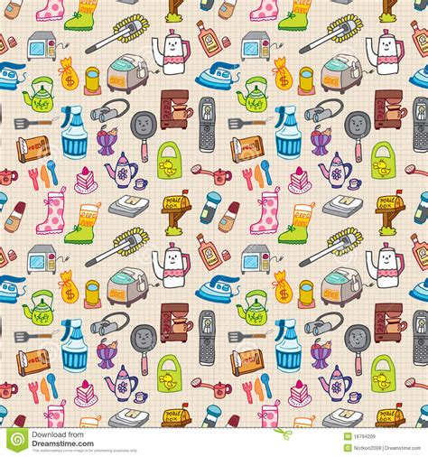 seamless pattern houses funny home thing seamless pattern royalty free stock