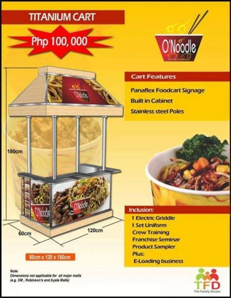 Letter Of Intent For Food Cart Business O Noodle Food Cart Franchise Ifranchise Ph
