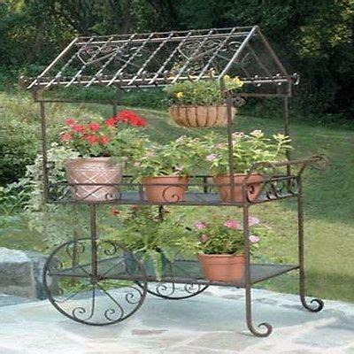 Steel Garden Decor Deer Park Steel Flower Cart Large Stand Garden Plant Patio Decor Outdoor Metal What S It Worth
