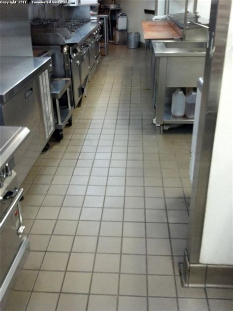 Commercial Kitchen Floor Tile Floor After Cleaning Image