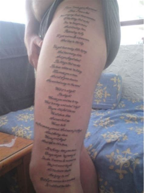 tattoo oasis lyrics a handy guide to help determine whether or not your band
