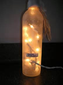 Yes a lighted wine bottle as you can see the bottle is frosted with a
