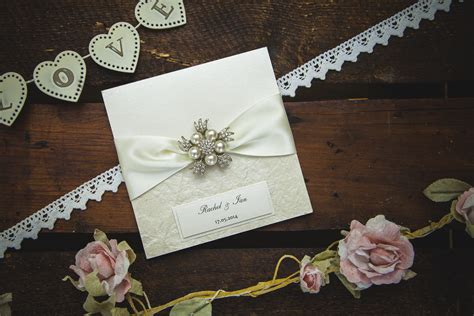 Handmade Wedding Stationery Uk - diamonds pearls collection no9 designs