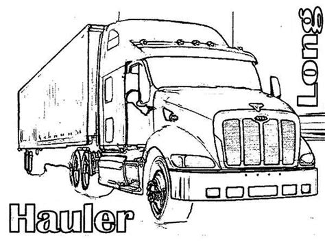 kenworth truck coloring pages coloring pages
