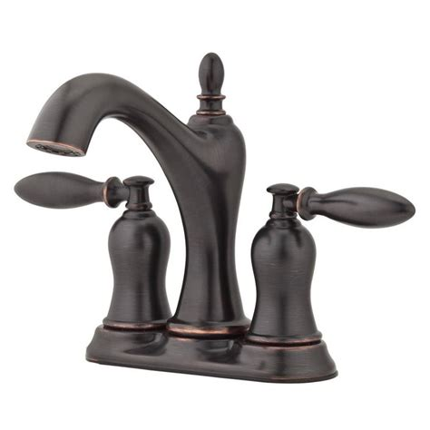 tuscany bathroom faucets shop pfister arlington tuscan bronze 2 handle 4 in