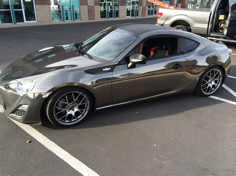 frs car black black chrome wrap