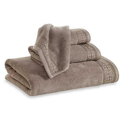 Elizabeth Arden Bath Rug Buy Elizabeth Arden Signature Bath Towel In Taupe From Bed Bath Beyond
