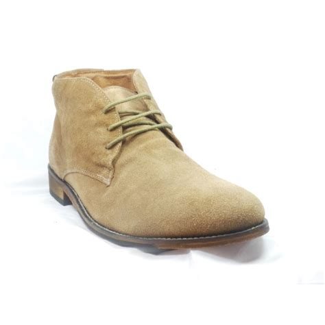 lotus wedbury sand suede mens lace up ankle boot lotus