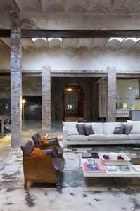 living room warehouse loft barcelona warehouse conversion 5 living room panda s house