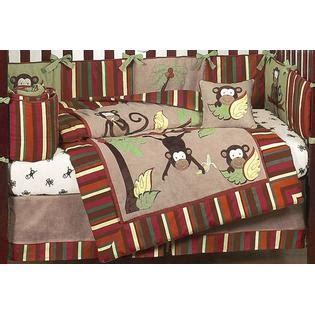 Sweet Jojo Designs Monkey Collection 9pc Crib Bedding Set Kmart Crib Bedding