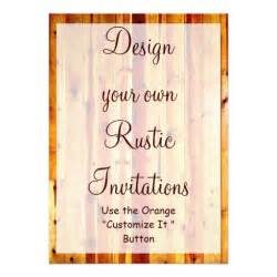 design your own template design your own rustic invitations blank template 5 quot x 7