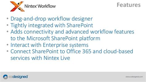 nintex workflow features webinar automating business processes with sharepoint and