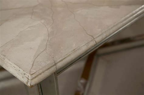Faux Marble Table Top by Mirrored Base Faux Marble Top Dining Table At 1stdibs
