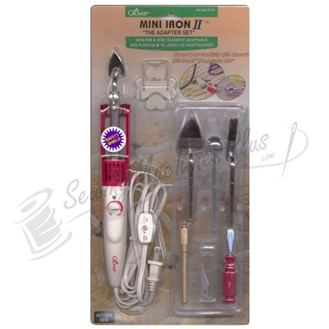 Mini Iron For Patchwork - clover mini iron ii the adaptor set includes 5 tips cl9101