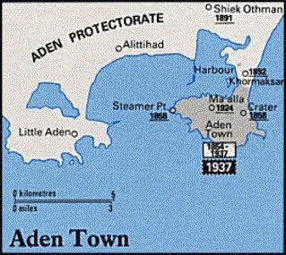 where is aden on the world map aden