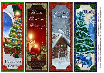 beautiful christmas bookmarks cup278420 1399 craftsuprint