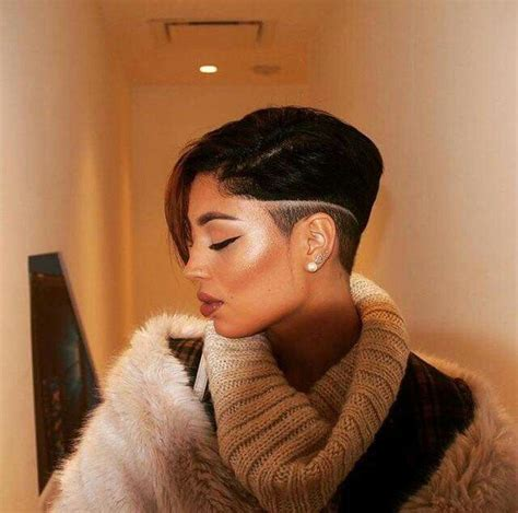 short natural hairstyles when shaved on one side and in back 792 best images about sassy lil haircut on pinterest