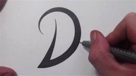 letter d tattoo designs how to draw a simple tribal letter d