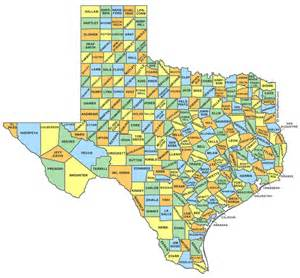 Counties In Tx County Map