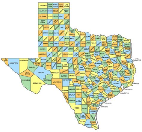 map of texas showing counties texas county map